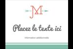Monogramme Carte Postale - gabarit prédéfini. <br/>Utilisez notre logiciel Avery Design & Print Online pour personnaliser facilement la conception.