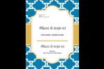 Tuile marocaine bleue Carte Postale - gabarit prédéfini. <br/>Utilisez notre logiciel Avery Design & Print Online pour personnaliser facilement la conception.