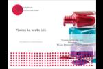 Flacons de vernis Carte Postale - gabarit prédéfini. <br/>Utilisez notre logiciel Avery Design & Print Online pour personnaliser facilement la conception.