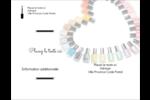 Vernis à ongles en cœur Carte Postale - gabarit prédéfini. <br/>Utilisez notre logiciel Avery Design & Print Online pour personnaliser facilement la conception.