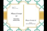 Tuile marocaine sarcelle Carte Postale - gabarit prédéfini. <br/>Utilisez notre logiciel Avery Design & Print Online pour personnaliser facilement la conception.