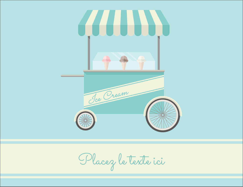 """4¼"""" X 5½"""" Carte Postale - Chariot à crème glacée"""