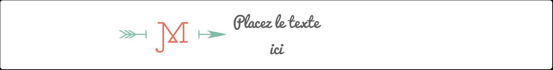 """1½"""" x 2½"""" Étiquettes ovales - Monogramme"""
