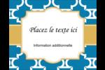 Tuile marocaine bleue Étiquettes rondes gaufrées - gabarit prédéfini. <br/>Utilisez notre logiciel Avery Design & Print Online pour personnaliser facilement la conception.