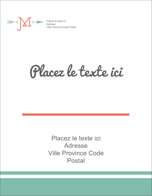 "5½"" x 4¼"" Carte Postale - Monogramme"