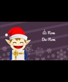 Petit Lutin de Noël Carte d'affaire - gabarit prédéfini. <br/>Utilisez notre logiciel Avery Design & Print Online pour personnaliser facilement la conception.