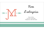 Monogramme Carte d'affaire - gabarit prédéfini. <br/>Utilisez notre logiciel Avery Design & Print Online pour personnaliser facilement la conception.