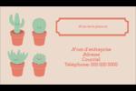 Plantes en pot fantaisistes Carte d'affaire - gabarit prédéfini. <br/>Utilisez notre logiciel Avery Design & Print Online pour personnaliser facilement la conception.