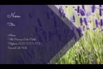 Champ de lavande Carte d'affaire - gabarit prédéfini. <br/>Utilisez notre logiciel Avery Design & Print Online pour personnaliser facilement la conception.