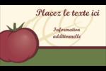 Tomate italienne Carte d'affaire - gabarit prédéfini. <br/>Utilisez notre logiciel Avery Design & Print Online pour personnaliser facilement la conception.
