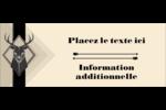 Chevreuils pour typographie Affichette - gabarit prédéfini. <br/>Utilisez notre logiciel Avery Design & Print Online pour personnaliser facilement la conception.