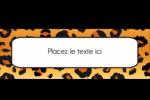 Imprimé léopard Affichette - gabarit prédéfini. <br/>Utilisez notre logiciel Avery Design & Print Online pour personnaliser facilement la conception.