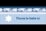 Étoile de David Judaism Affichette - gabarit prédéfini. <br/>Utilisez notre logiciel Avery Design & Print Online pour personnaliser facilement la conception.