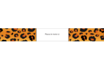Imprimé léopard Étiquettes ovales - gabarit prédéfini. <br/>Utilisez notre logiciel Avery Design & Print Online pour personnaliser facilement la conception.