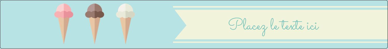 """1½"""" x 2½"""" Étiquettes ovales - Chariot à crème glacée"""