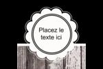 Dentelle sur bois Étiquettes enveloppantes - gabarit prédéfini. <br/>Utilisez notre logiciel Avery Design & Print Online pour personnaliser facilement la conception.