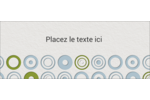 Cercles professionnels Affichette - gabarit prédéfini. <br/>Utilisez notre logiciel Avery Design & Print Online pour personnaliser facilement la conception.
