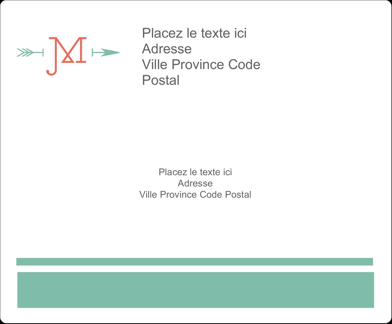 """3⅓"""" x 4"""" Étiquettes d'expédition - Monogramme"""