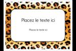 Imprimé léopard Étiquettes rondes - gabarit prédéfini. <br/>Utilisez notre logiciel Avery Design & Print Online pour personnaliser facilement la conception.