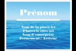 Ciel-océan Badges - gabarit prédéfini. <br/>Utilisez notre logiciel Avery Design & Print Online pour personnaliser facilement la conception.