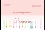 Vernis à ongles Étiquettes à codage couleur - gabarit prédéfini. <br/>Utilisez notre logiciel Avery Design & Print Online pour personnaliser facilement la conception.