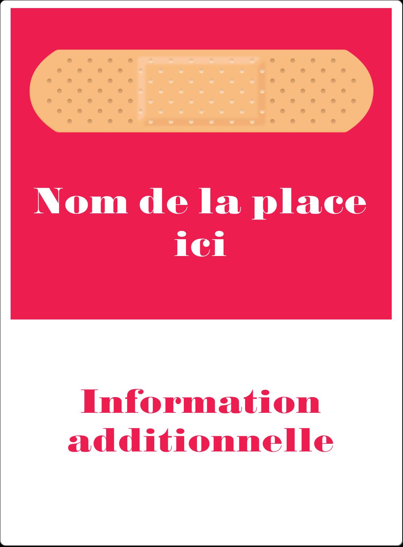 """2½"""" Diameter Étiquettes rondes - Pansement"""
