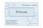 Sphères modernes pour typographie Badges - gabarit prédéfini. <br/>Utilisez notre logiciel Avery Design & Print Online pour personnaliser facilement la conception.