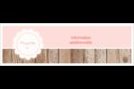 Dentelle sur bois Carte de note - gabarit prédéfini. <br/>Utilisez notre logiciel Avery Design & Print Online pour personnaliser facilement la conception.