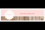 Dentelle sur bois Affichette - gabarit prédéfini. <br/>Utilisez notre logiciel Avery Design & Print Online pour personnaliser facilement la conception.
