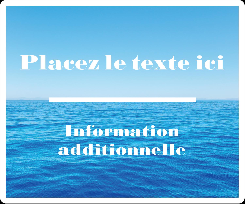 """½"""" x 1¾"""" Étiquettes D'Adresse - Ciel-océan"""