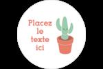 Plantes en pot fantaisistes Étiquettes arrondies - gabarit prédéfini. <br/>Utilisez notre logiciel Avery Design & Print Online pour personnaliser facilement la conception.