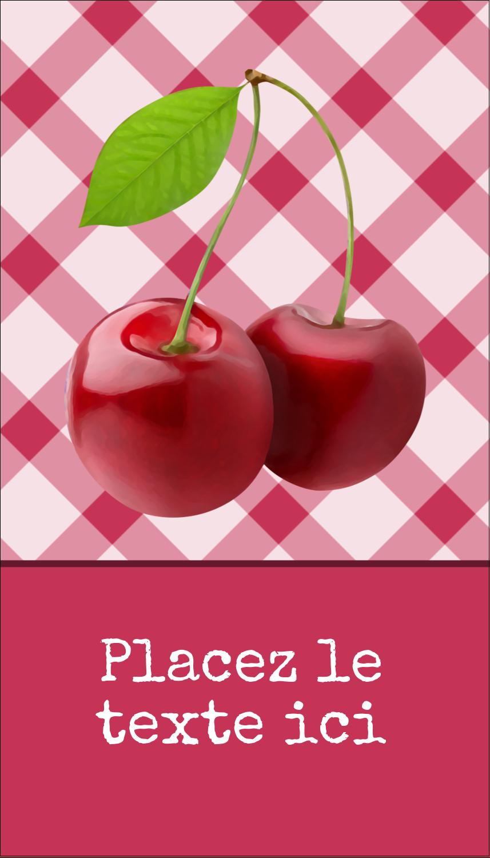 """3½"""" x 2"""" Carte d'affaire - Confiture"""
