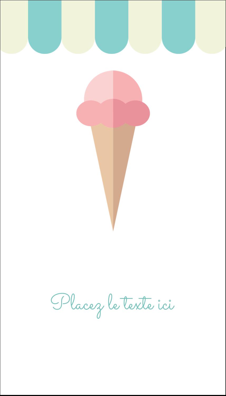 """3½"""" x 2"""" Carte d'affaire - Chariot à crème glacée"""