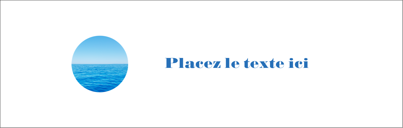 "4¼"" x 5½"" Carte de note - Ciel-océan"
