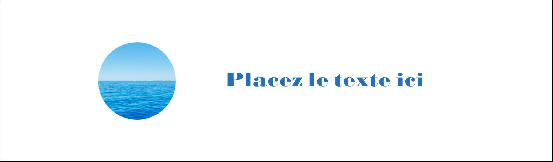 """3½"""" x 11"""" Affichette - Ciel-océan"""