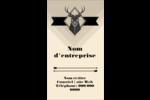 Chevreuils pour typographie Carte d'affaire - gabarit prédéfini. <br/>Utilisez notre logiciel Avery Design & Print Online pour personnaliser facilement la conception.