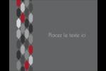Hexagone rouge Étiquettes rondes gaufrées - gabarit prédéfini. <br/>Utilisez notre logiciel Avery Design & Print Online pour personnaliser facilement la conception.