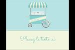 Chariot à crème glacée Étiquettes rondes gaufrées - gabarit prédéfini. <br/>Utilisez notre logiciel Avery Design & Print Online pour personnaliser facilement la conception.