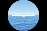 Ciel-océan Étiquettes Voyantes - gabarit prédéfini. <br/>Utilisez notre logiciel Avery Design & Print Online pour personnaliser facilement la conception.