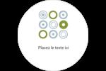 Cercles professionnels Étiquettes arrondies - gabarit prédéfini. <br/>Utilisez notre logiciel Avery Design & Print Online pour personnaliser facilement la conception.