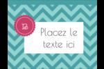 Monogramme en chevron Carte Postale - gabarit prédéfini. <br/>Utilisez notre logiciel Avery Design & Print Online pour personnaliser facilement la conception.