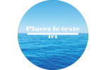 Ciel-océan Étiquettes rondes - gabarit prédéfini. <br/>Utilisez notre logiciel Avery Design & Print Online pour personnaliser facilement la conception.