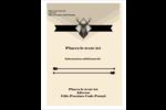 Chevreuils pour typographie Carte Postale - gabarit prédéfini. <br/>Utilisez notre logiciel Avery Design & Print Online pour personnaliser facilement la conception.