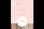 Dentelle sur bois Carte Postale - gabarit prédéfini. <br/>Utilisez notre logiciel Avery Design & Print Online pour personnaliser facilement la conception.