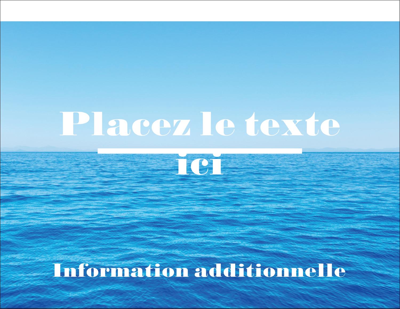 "4¼"" X 5½"" Carte Postale - Ciel-océan"
