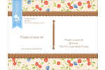 Baume à lèvres campagne Carte Postale - gabarit prédéfini. <br/>Utilisez notre logiciel Avery Design & Print Online pour personnaliser facilement la conception.
