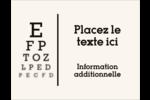 Tableau oculaire Carte Postale - gabarit prédéfini. <br/>Utilisez notre logiciel Avery Design & Print Online pour personnaliser facilement la conception.