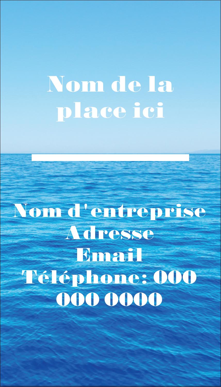 "2"" x 3½"" Carte d'affaire - Ciel-océan"