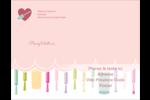 Vernis à ongles Carte Postale - gabarit prédéfini. <br/>Utilisez notre logiciel Avery Design & Print Online pour personnaliser facilement la conception.