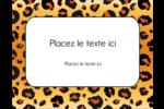 Imprimé léopard Carte Postale - gabarit prédéfini. <br/>Utilisez notre logiciel Avery Design & Print Online pour personnaliser facilement la conception.